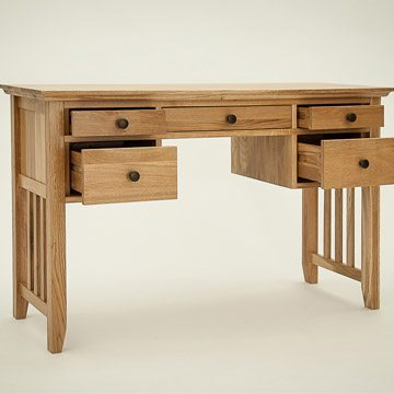 Hereford Rustic Oak Console Dressing Table