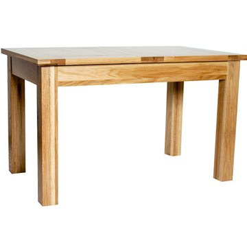 Hereford Rustic Oak Extending Dining Table 2