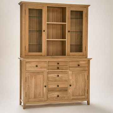 Hereford Rustic Oak Large Dresser