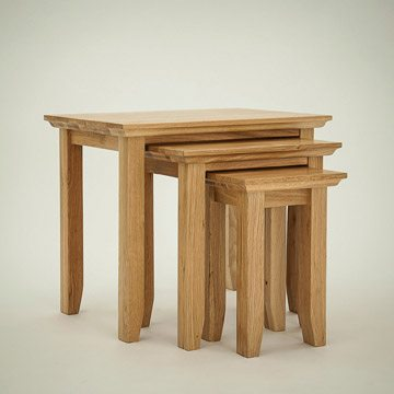 Hereford Rustic Oak Nest of Tables