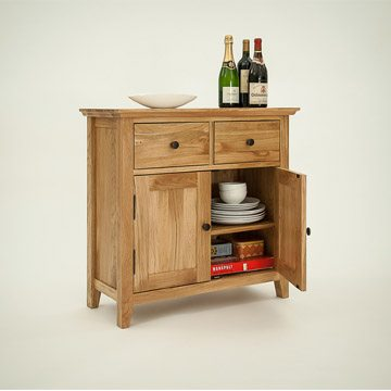 Hereford Rustic Oak Small Sideboard