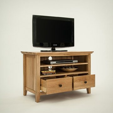 Hereford Rustic Oak Small TV Unit
