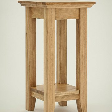 Hereford Rustic Oak Tall Lamp Table
