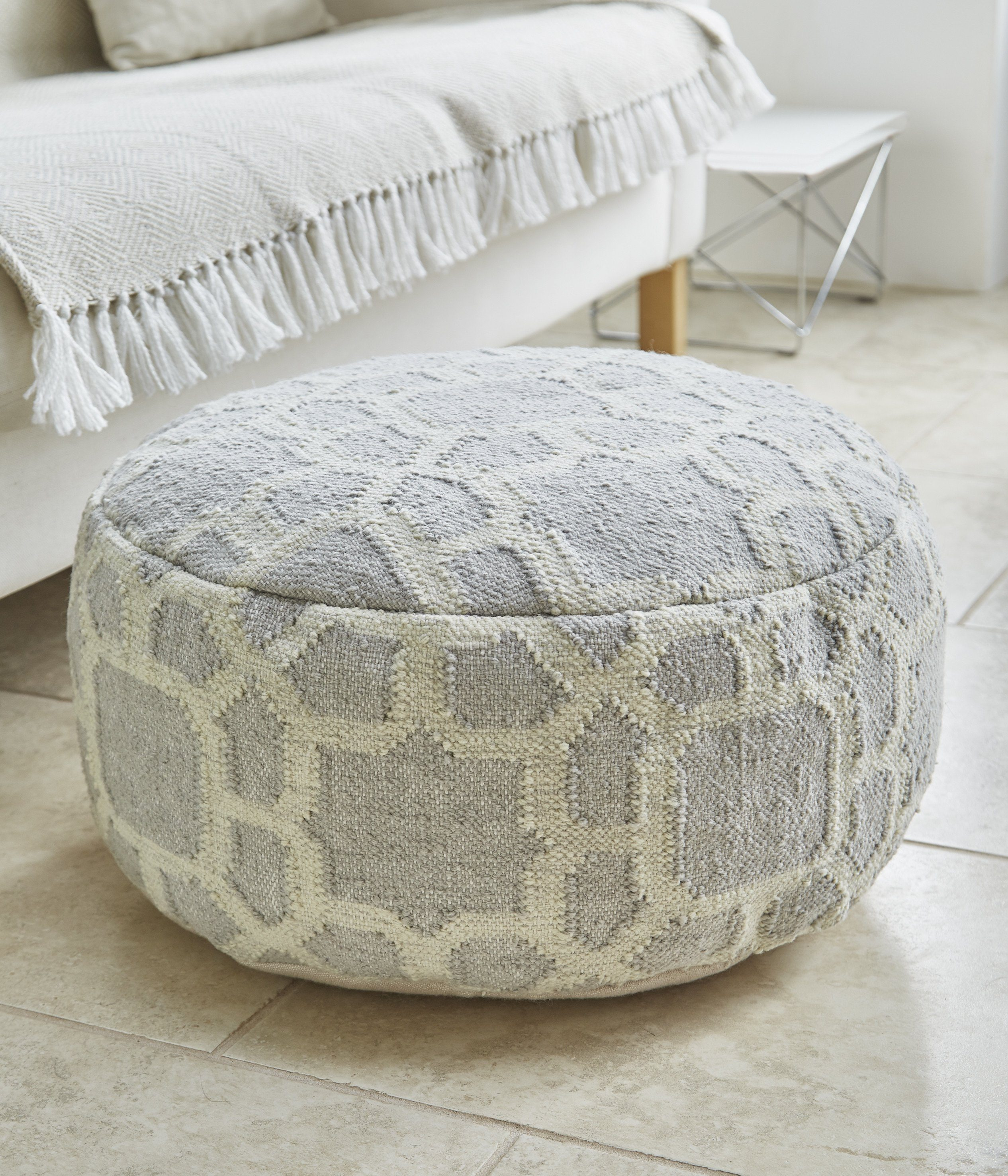 Kasbah Smoke Footstool