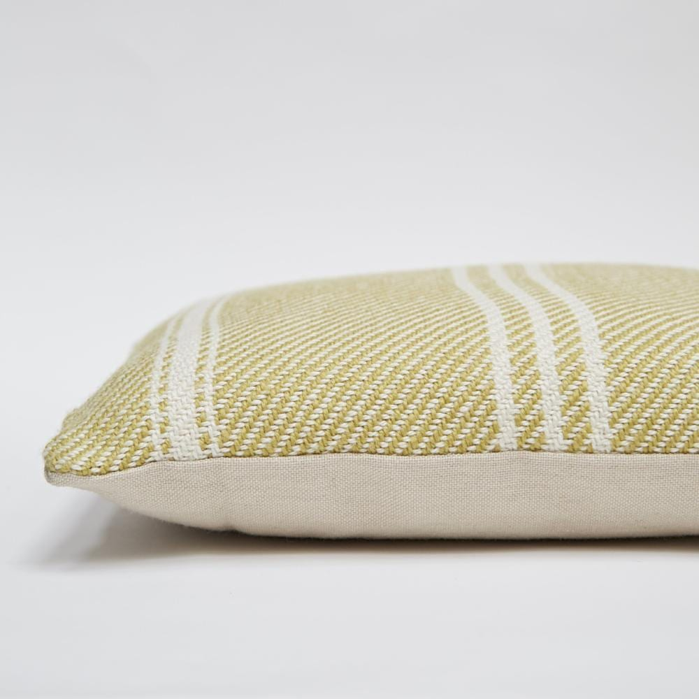 Lightweight Gooseberry Oxford Stripe Cushion