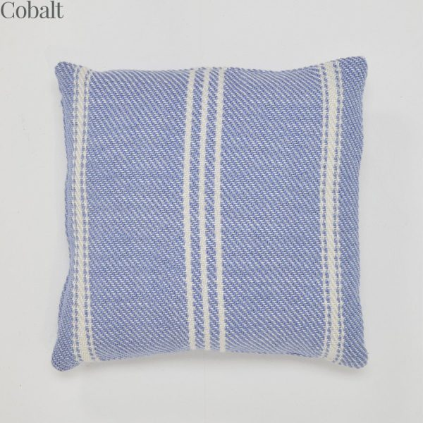 Lightweight Oxford Stripe Cobalt Cushion
