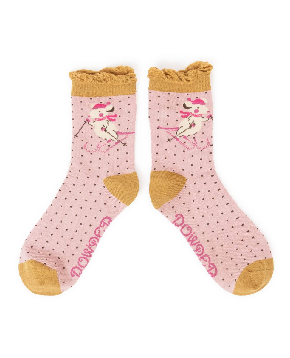 Ankle Skiing Mice Socks The Haven Home Interiors