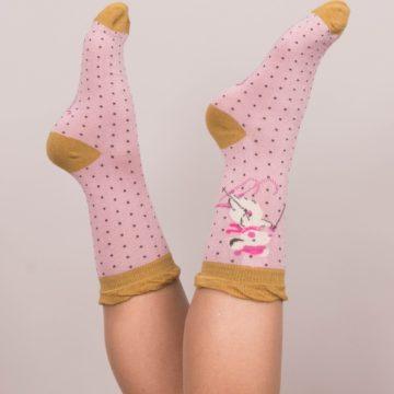 Ankle Skiing Mice Socks