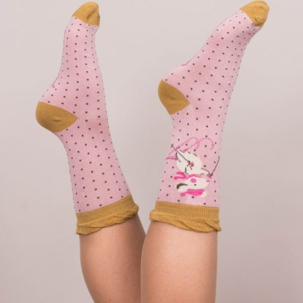 Ankle Skiing Mice Socks