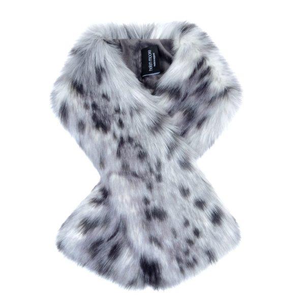Arctic Leopard Faux Fur Tippet Scarf