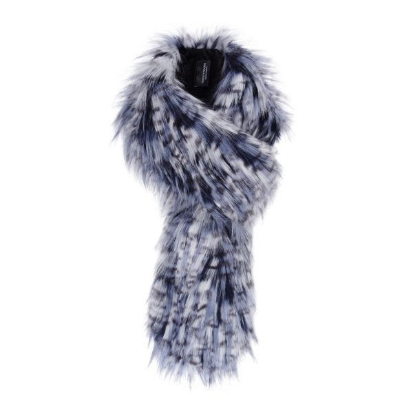 Denim Faux Fur Loop Scarf