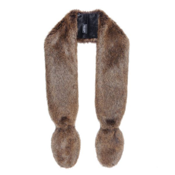 Golden Bear Faux Fur Slim Vixen Scarf