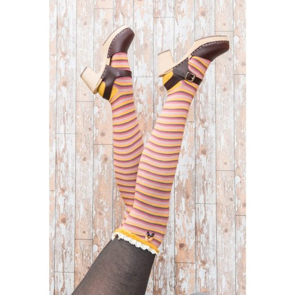 Long Mix Stripe Socks