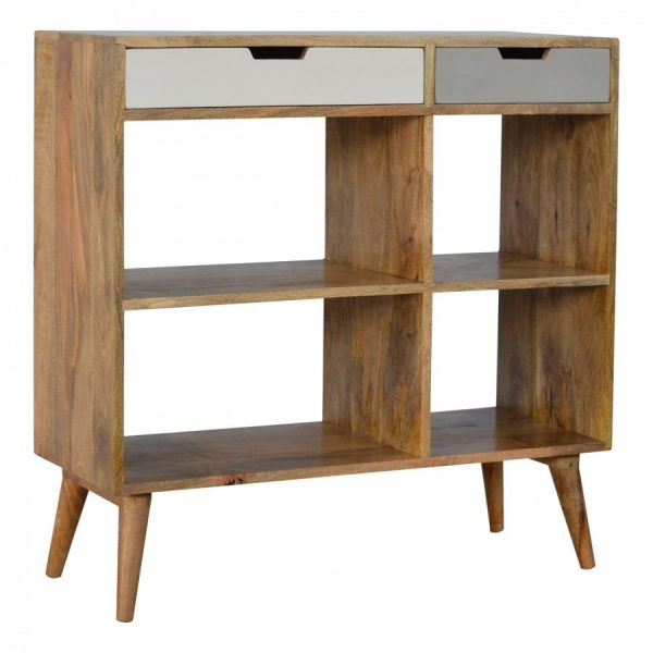 Mango Hill Low Bookcase with 2 Drawers