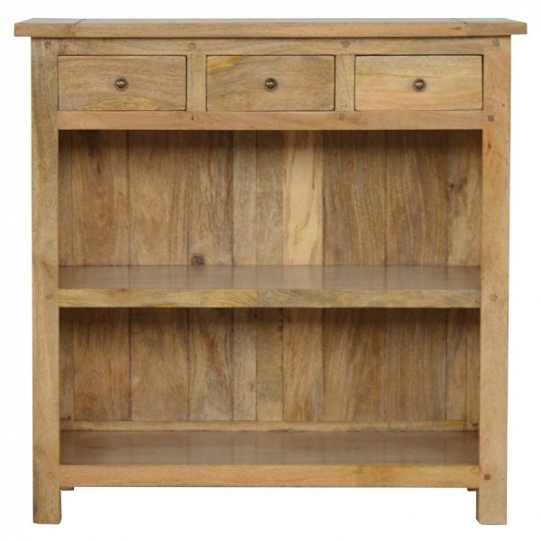 Mango Hill Low Bookcase with 3 Drawers