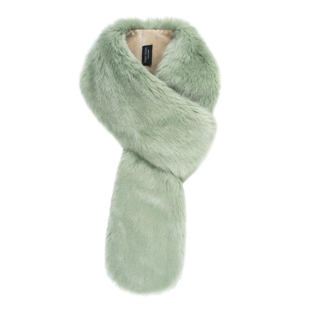 Pistachio Faux Fur Loop Scarf