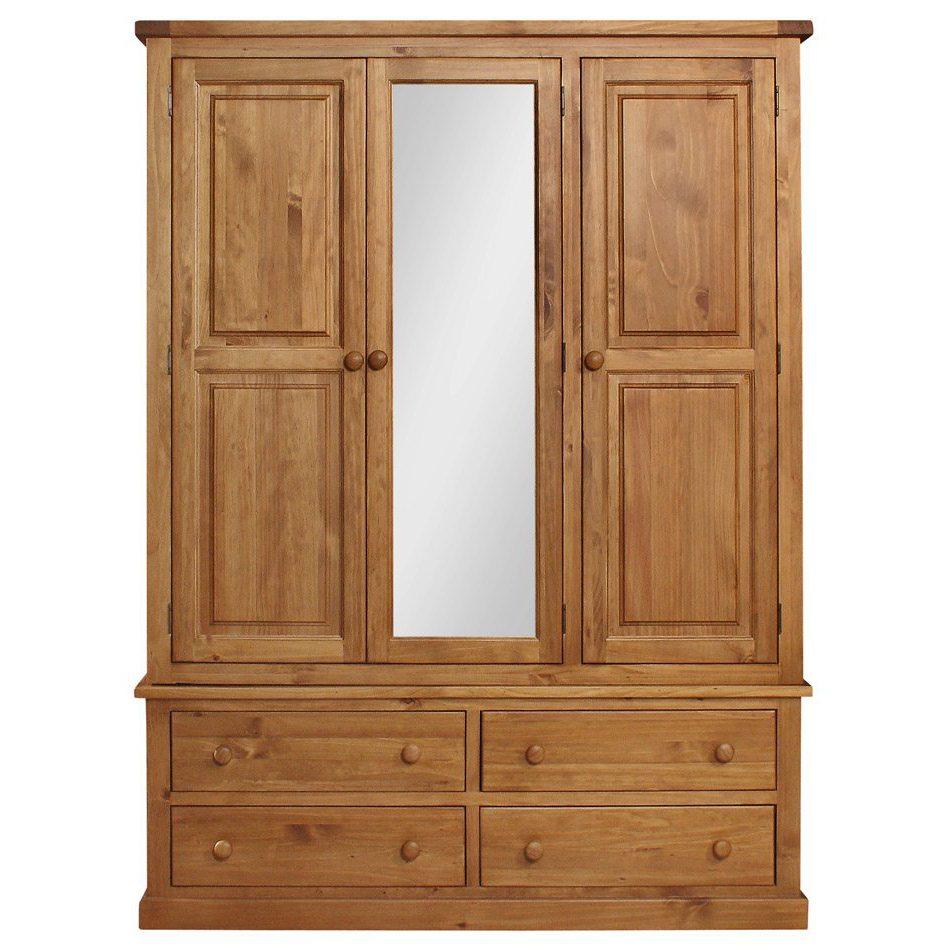 Delamere 3 Door 4 Drawer Wardrobe
