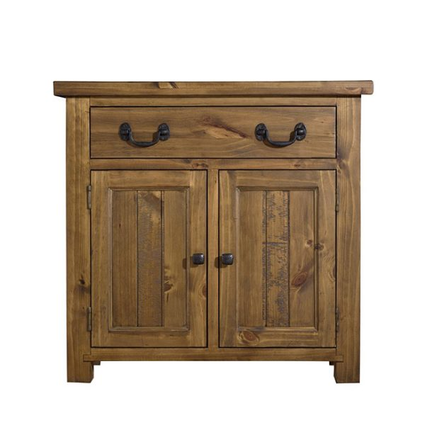 Our Gresford Rustic 2 Door 1 Drawer Sideboard is carefully crafted with an authentically rustic finish and protected with a rich coloured lacquer. The rustic metal drop handles and dovetail drawer fronts with tongue and grooved bases provide country classic detailing that's at home in any stylish interior