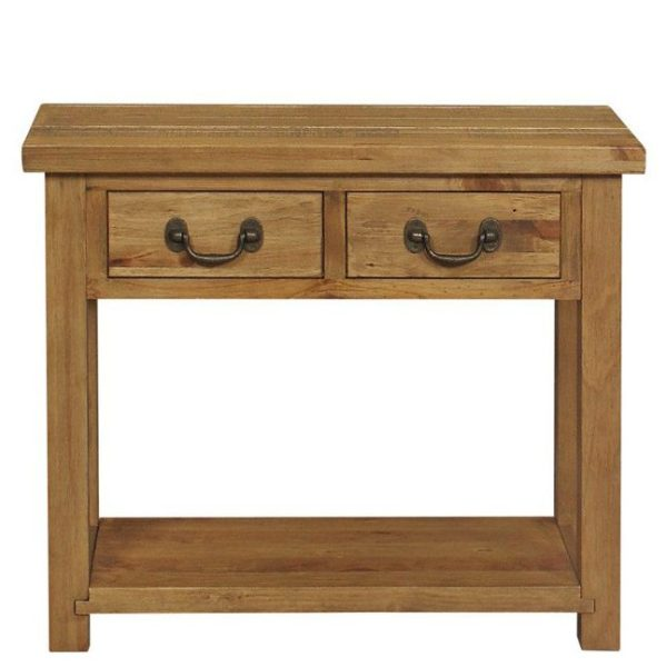 Gresford Rustic 2 Drawer Console Table K.D
