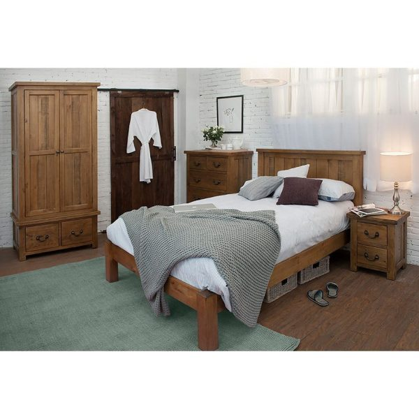 Gresford Rustic 3 Door 3 Drawer Wardrobe