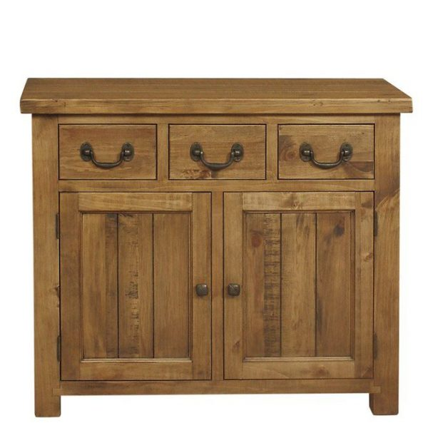 Gresford Rustic 3 Drawer 2 Door Sideboard