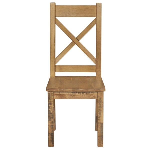 Gresford Rustic Dining Chair Timber Seat KD