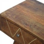 Mango Hill Writing Desk with Gold Wiring