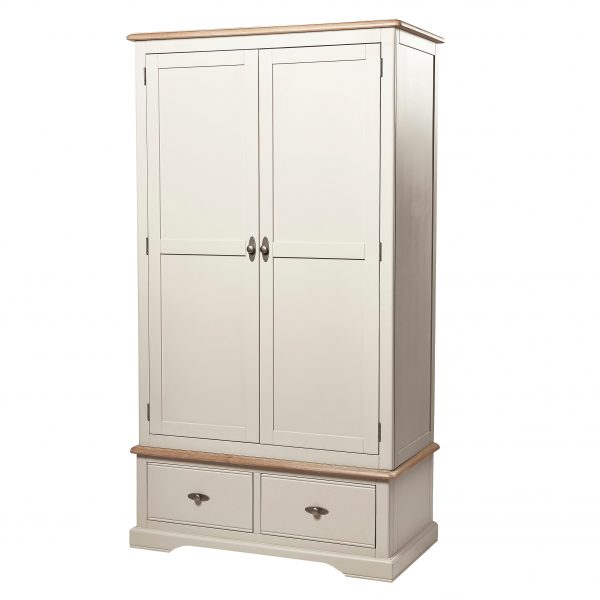 Marseille Ivory 2 Door 2 Drawer Wardrobe