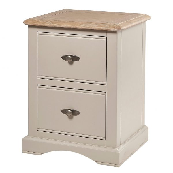 Marseille Putty 2 Drawer Bedside