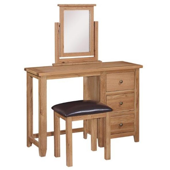 Mini Oxford Oak 3 Drawer Dressing Table