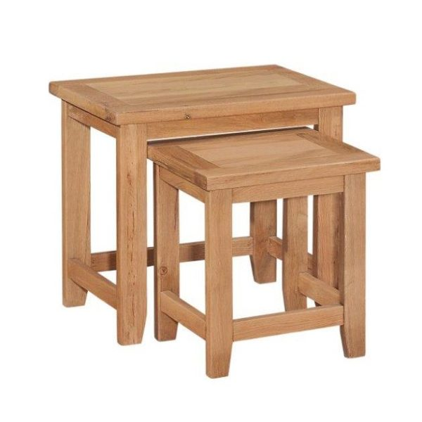 Mini Oxford Oak Nest Of 2 Tables