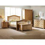 Oxford Oak 3 Drawer Bedside