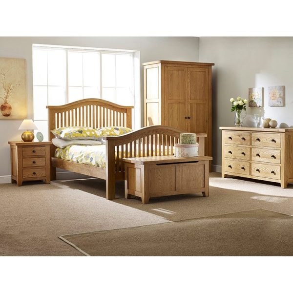 Oxford Oak 3 Drawer Bedside