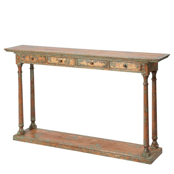 Liberty Bay 4 Drawer Narrow Console Table