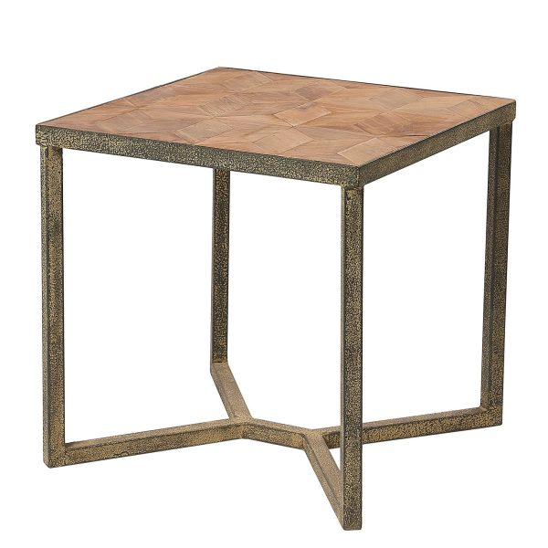 Liberty Bay Metal Chair Wood Seat