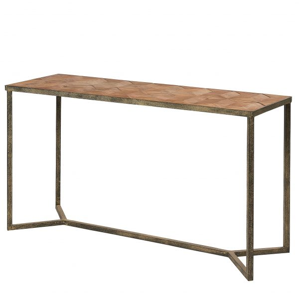 Liberty Bay Parquet Top Console Table