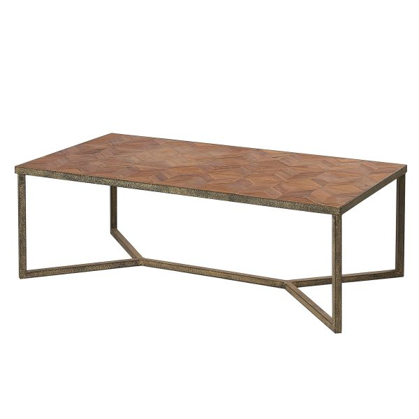 Liberty Bay Parquet Top Coffee Table