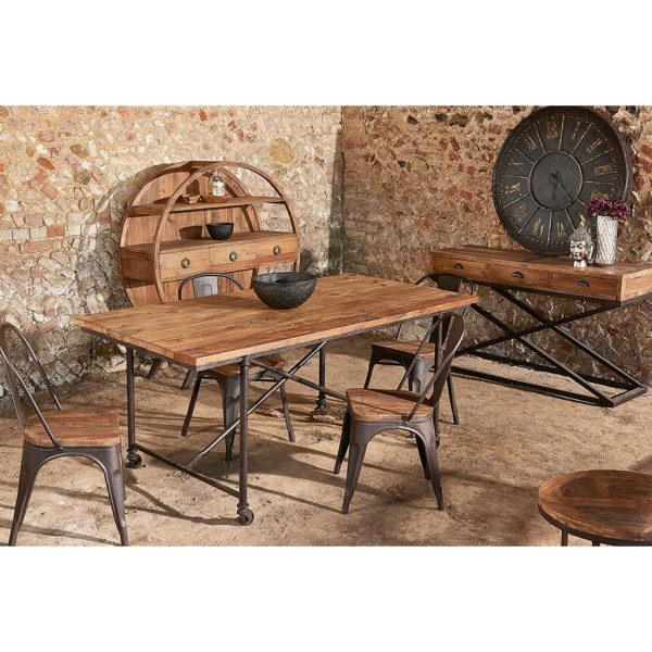 Liberty Bay Parquet Top Dining Table