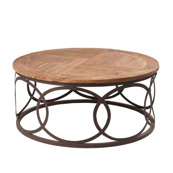 Liberty Bay Pine Round Lamp Table