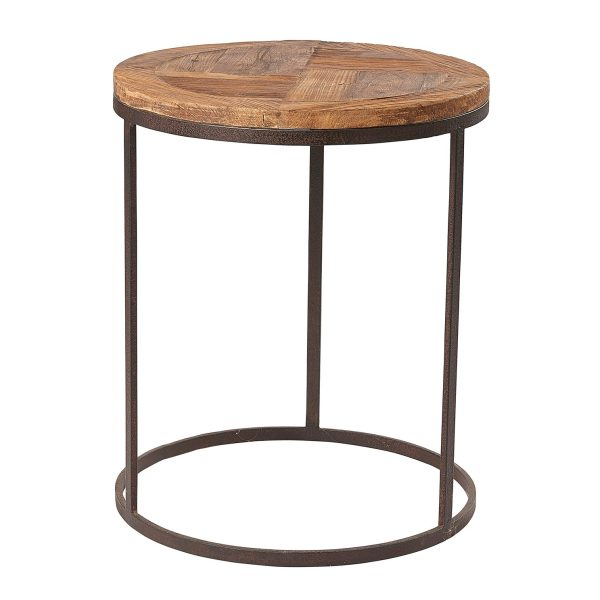 Liberty Bay Pine Round Lamp Table