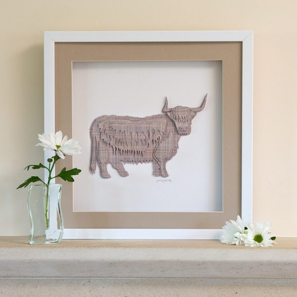 Tartan 'King Of The Cattle' Highland Cow Framed Picture