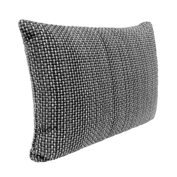 Black Weave Rectangle Cushion