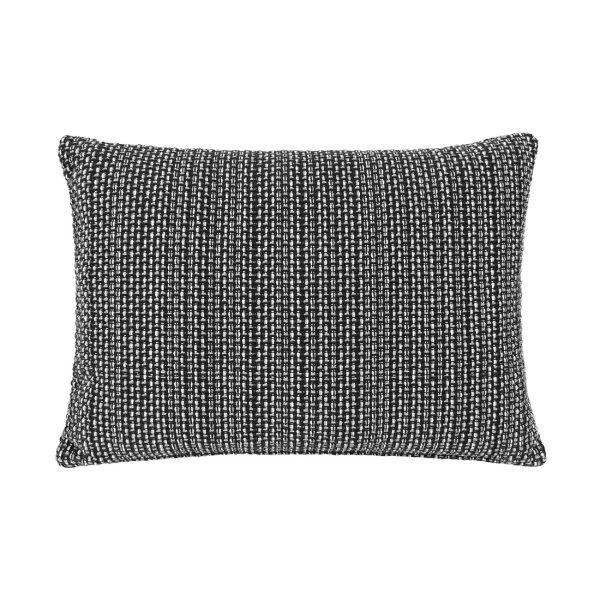 Black Weave Rectangle Cushion