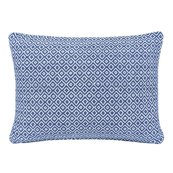 Blue Diamond Rectangle Cushion