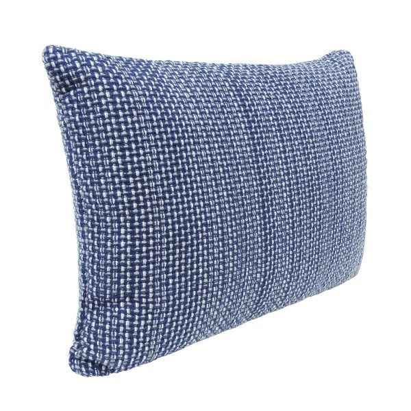 Blue Weave Rectangle Cushion