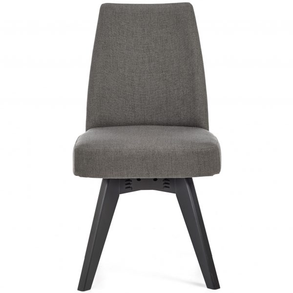 Brunel Cold Steel Swivel Chair