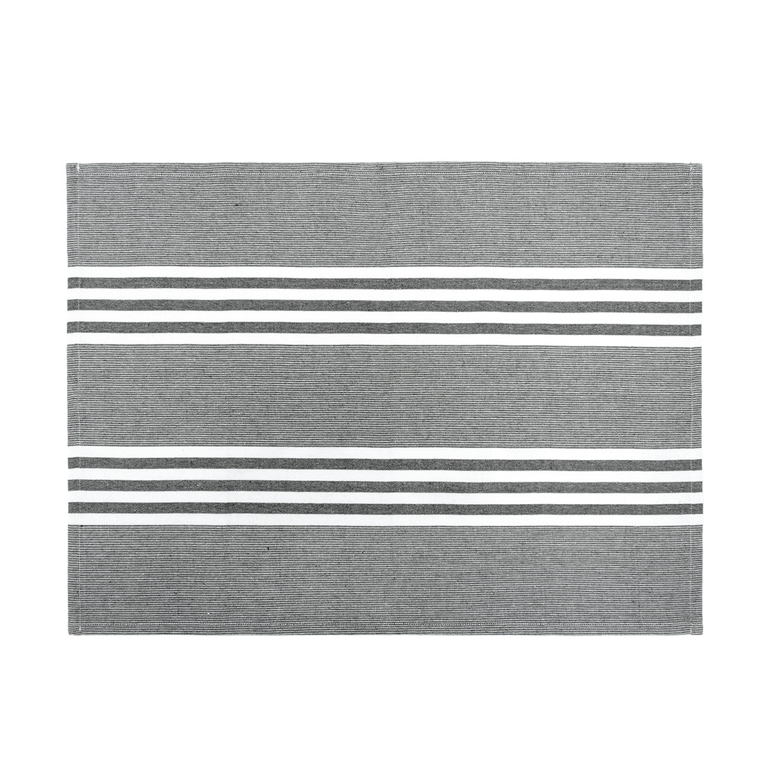 Dark Grey Stripe Tea Towels