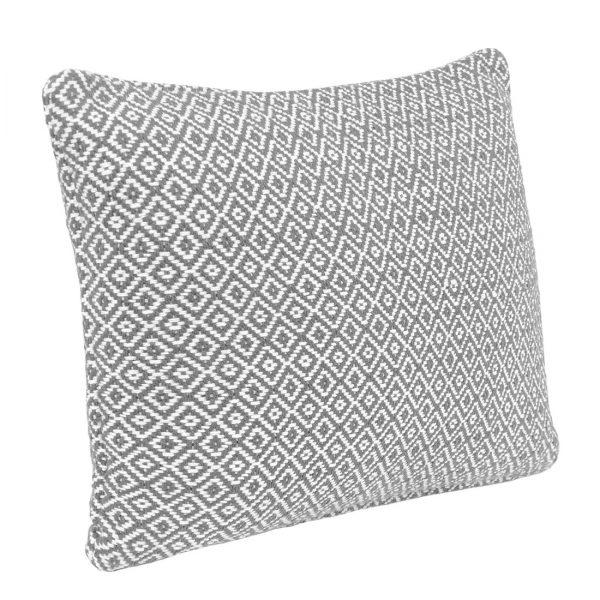 Grey Diamond Rectangle Cushion