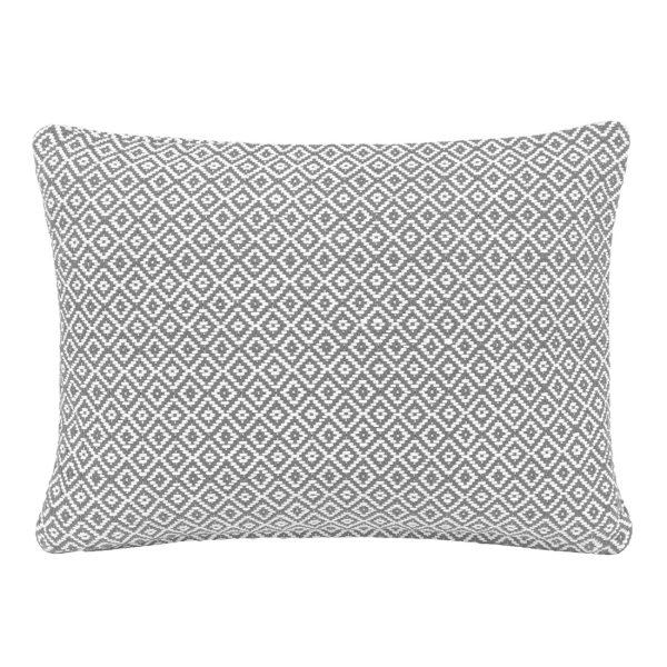 Grey Diamond Rectangle Cushion