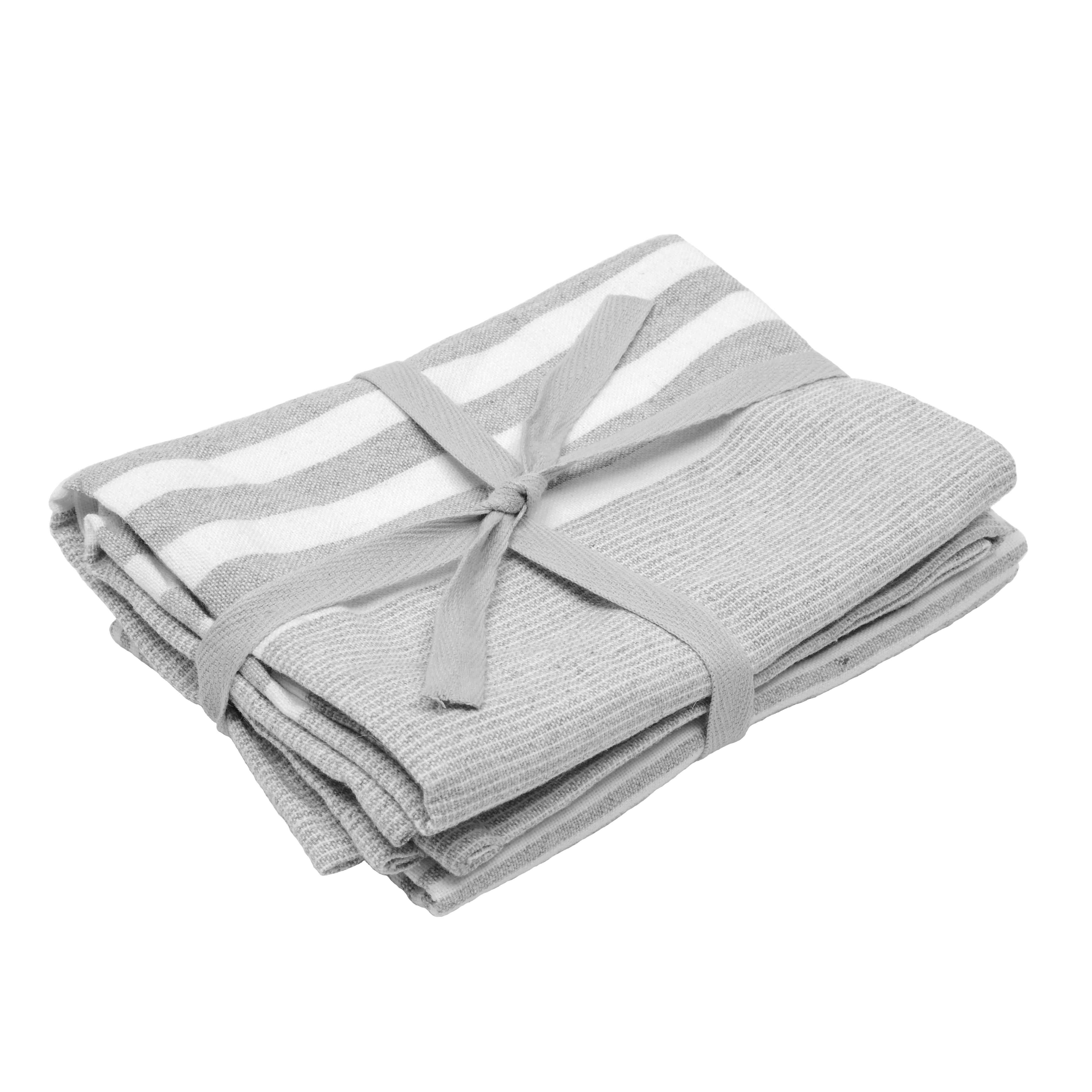 light grey tea towels kitchen tableware the haven. Black Bedroom Furniture Sets. Home Design Ideas